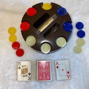 Vintage Poker Chip revolving carousel Pleasantime